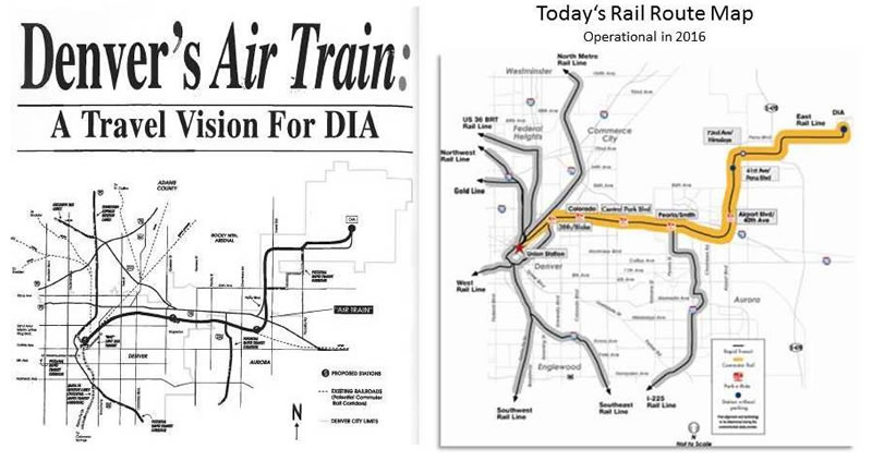 Now & Then | Denver International Airport Dia Map on