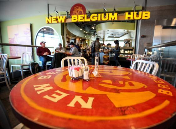 new belgium hub denver international airport