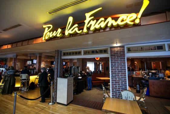 Signature Dishes Include Pastas Paninis Salads And Homemade Quiche Pour La France Also Features Espresso Drinks Fresh Pastries Organic Energy Bars