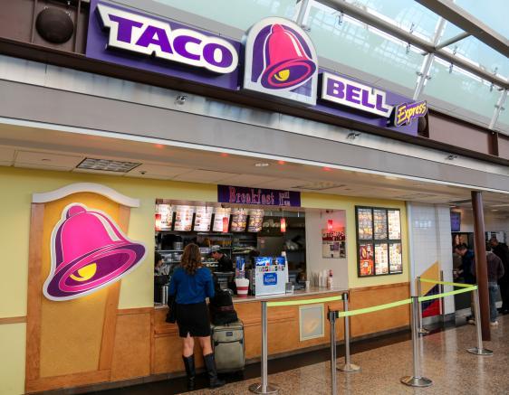 M Bel Airport taco bell express denver international airport